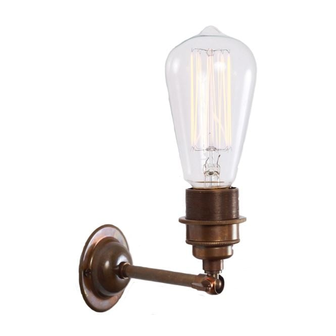 Monaghan Lighting LOME Vintage Minimalist Wall Light in Antique Brass