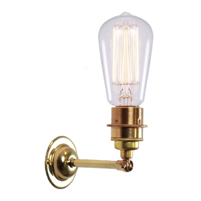 Monaghan Lighting LOME Vintage Minimalist Wall Light in Polished Brass