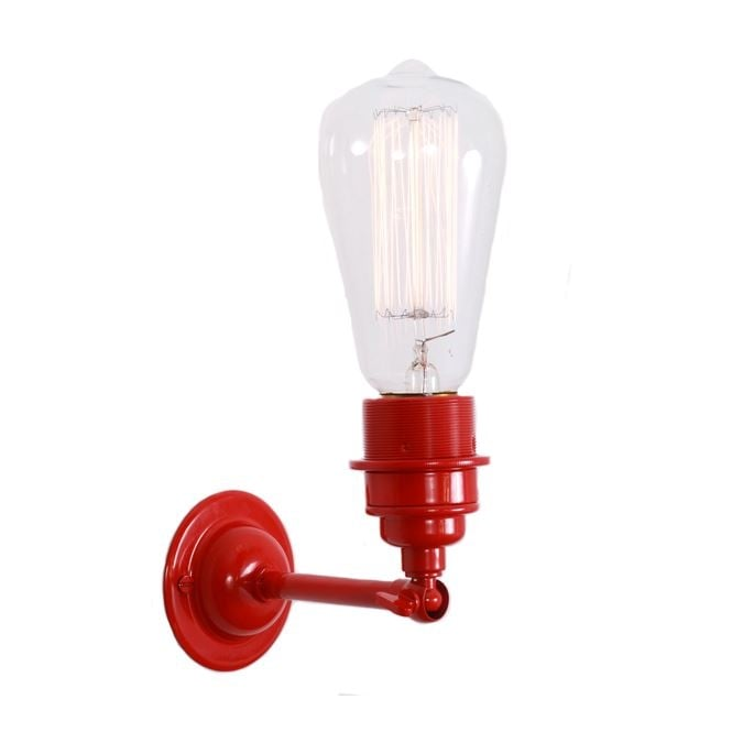 Monaghan Lighting LOME Vintage Minimalist Wall Light in Powder Coated Red