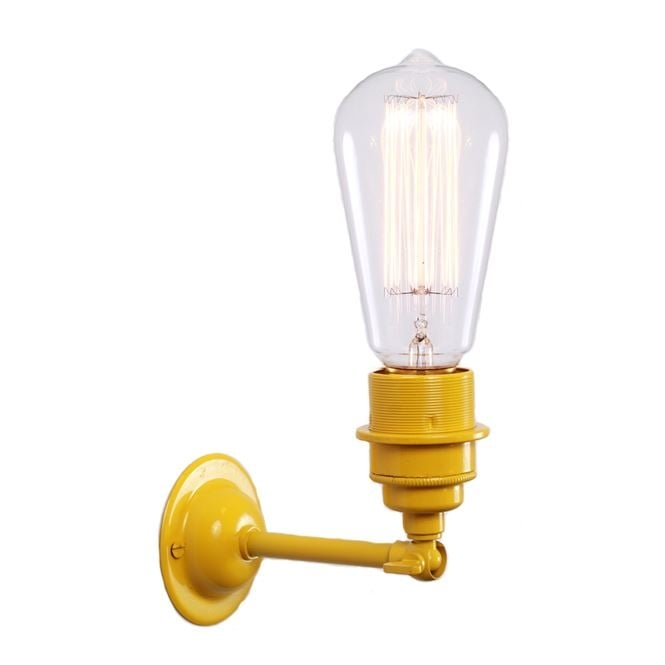 Monaghan Lighting LOME Vintage Minimalist Wall Light in Powder Coated Yellow