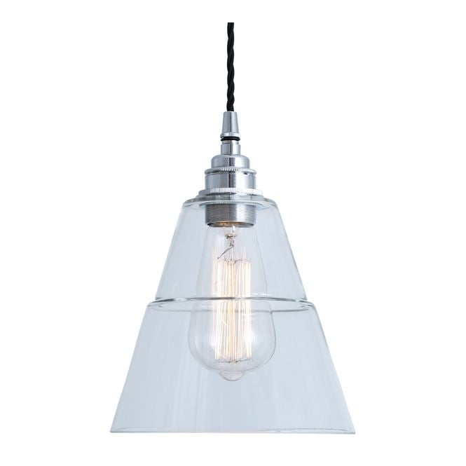 LYX Clear Glass Pendant Light in Polished Chrome