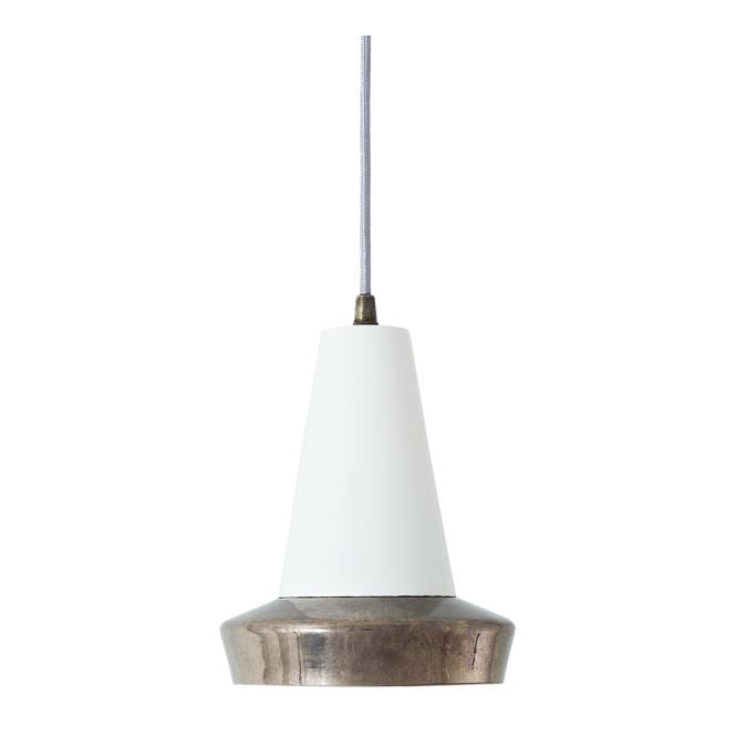 Monaghan Lighting MALABO industrial style antique silver and white ceiling pendant