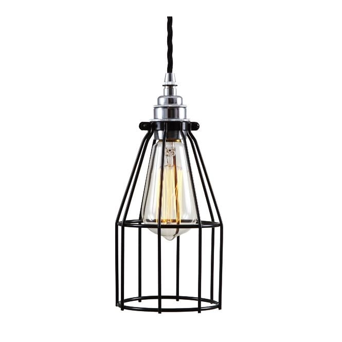 Monaghan Lighting RAZE Cage Pendant Light in Powder Coated Black