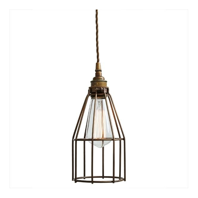 Monaghan Lighting RAZE Cage Pendant Light in Powder Coated Bronze