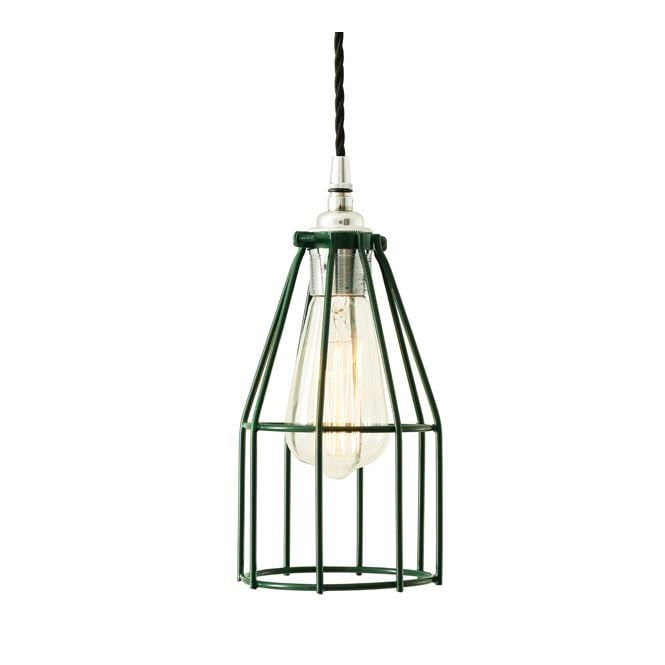RAZE Cage Pendant Light in Powder Coated Racing Green