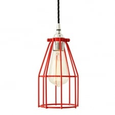 RAZE Cage Pendant Light in Powder Coated Red