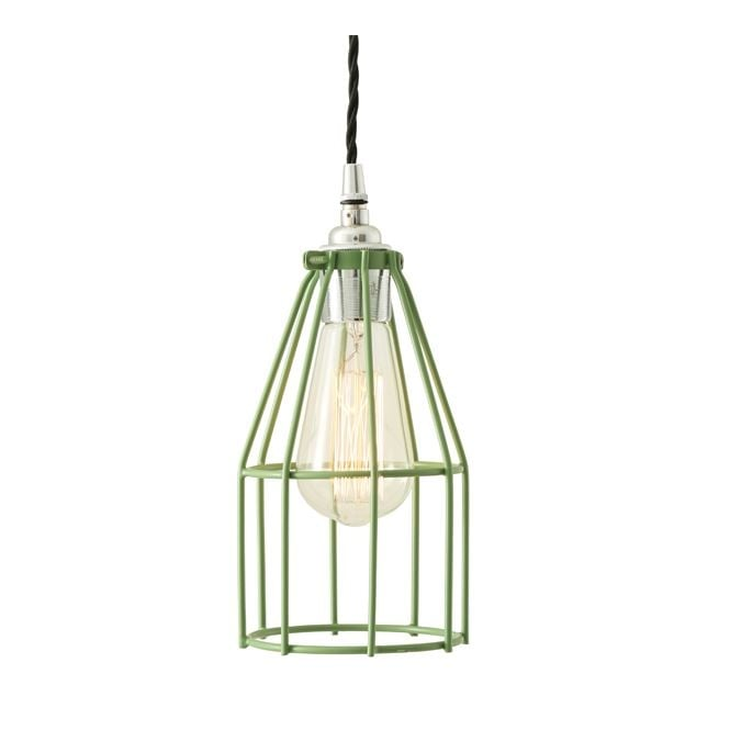 Monaghan Lighting RAZE Cage Pendant Light in Powder Coated Sage Green