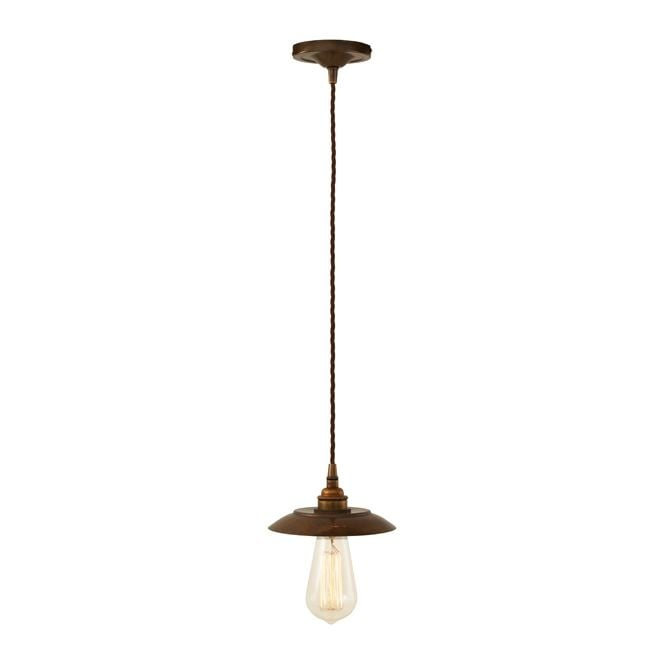 Monaghan Lighting REZNOR Industrial Pendant Light in Antique Brass