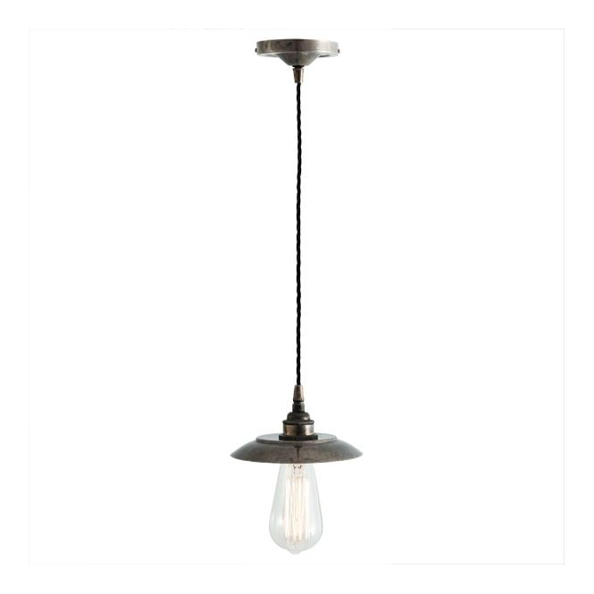 REZNOR Industrial Pendant Light in Antique Silver