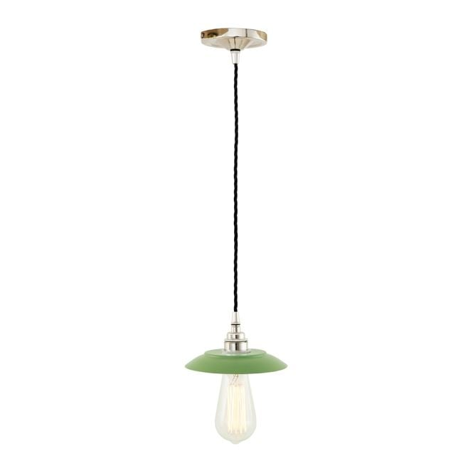 Monaghan Lighting REZNOR Industrial Pendant Light in Powder Coated Sage Green