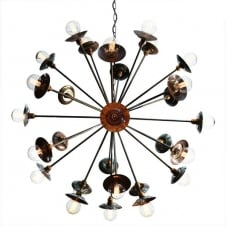 27 light antique brass sputnik chandelier