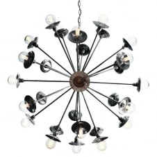 27 light antique silver sputnik chandelier