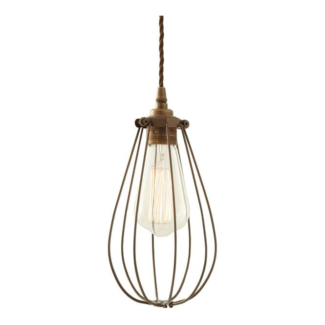 Monaghan Lighting VOX Vintage Cage Pendant Light in Powder Coated Bronze