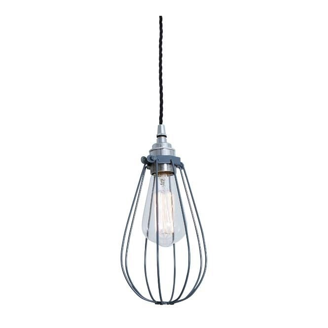 Monaghan Lighting VOX Vintage Cage Pendant Light in Powder Coated Grey