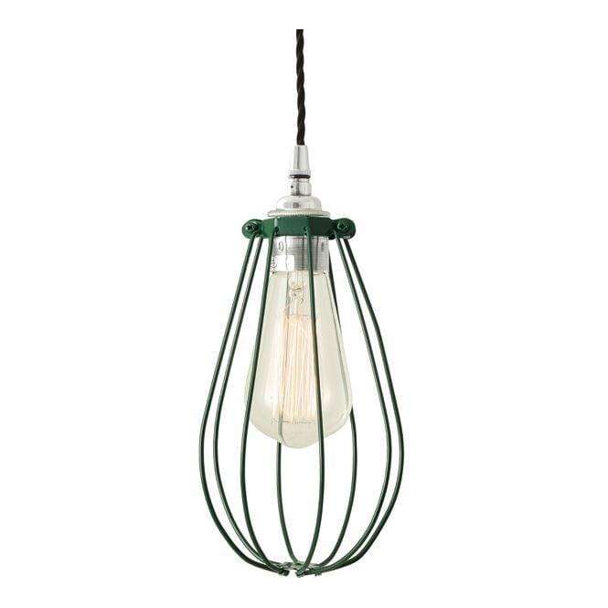 Monaghan Lighting VOX Vintage Cage Pendant Light in Powder Coated Racing Green