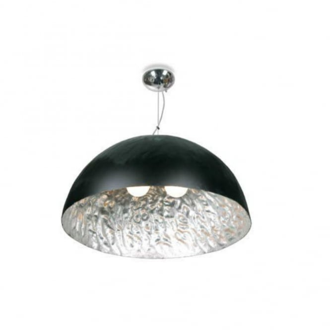 MOONFACE black and silver ceiling pendant (large)