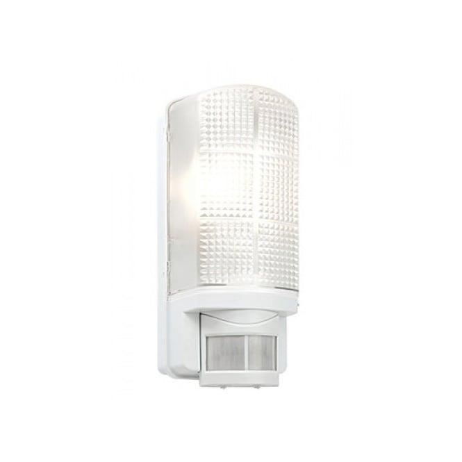 White exterior bulkhead light ip44 pir sensor security light motion exterior bulkhead light with sensor white mozeypictures Image collections