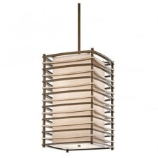 contemporary geometric bronze ceiling pendant with inner shade