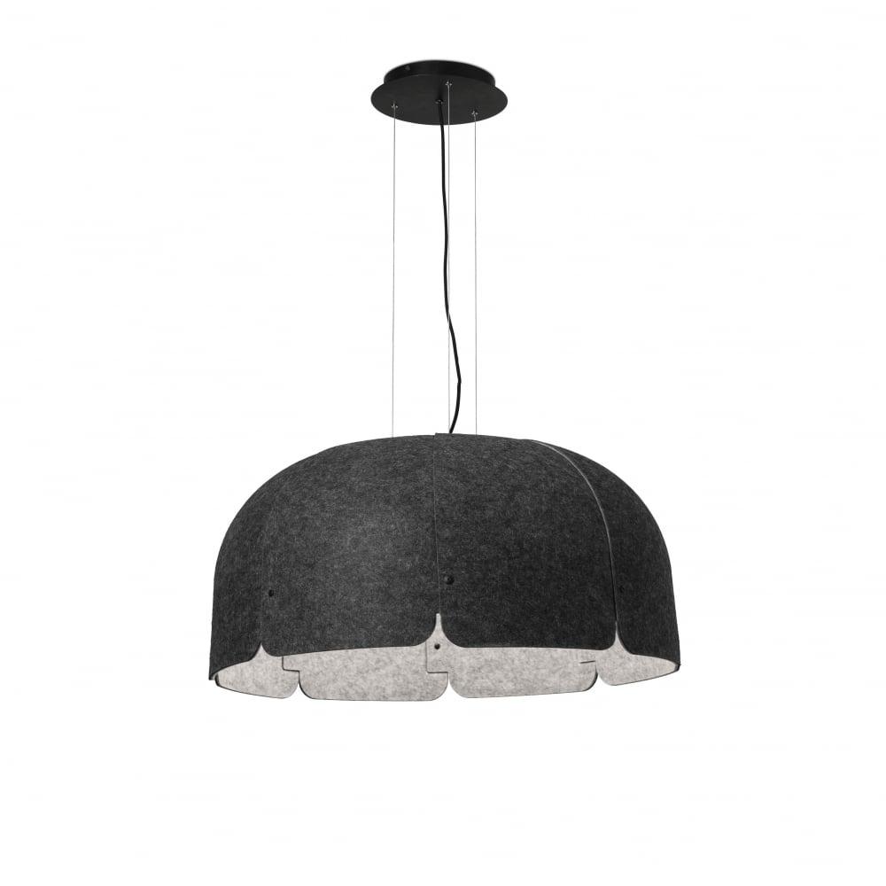 Large Grey Acoustic Fabric Led Ceiling Pendant Lighting