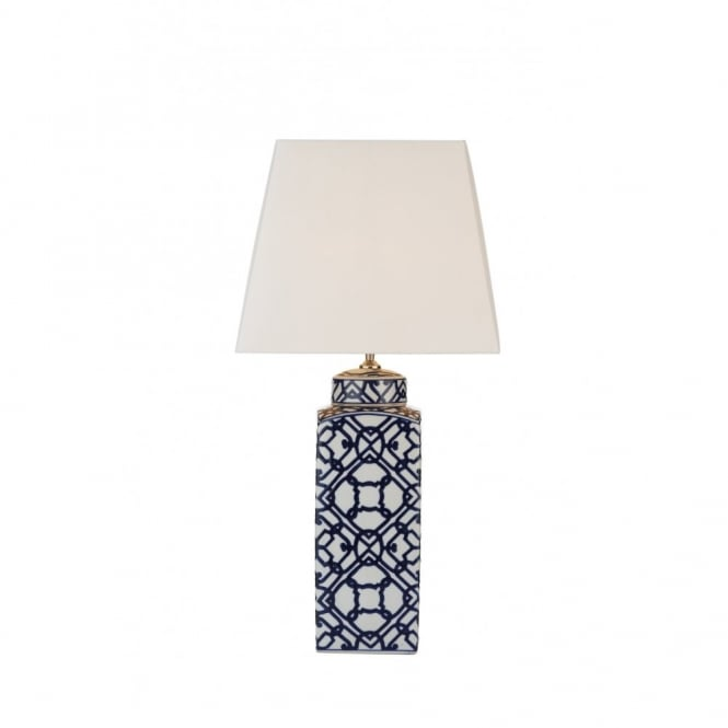 Ordinaire MYSTIC Blue U0026 White Ceramic Table Lamp With Shade