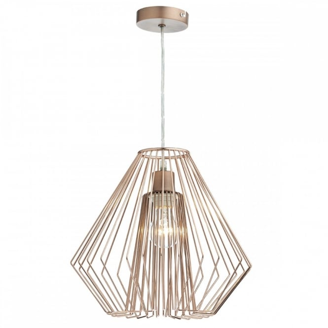 Copper Wire Frame Non Electric Ceiling Pendant Shade