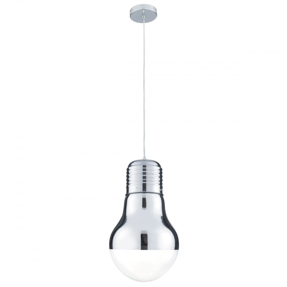 Large Bulb Shaped Glass Ceiling Pendant Clear Glass And