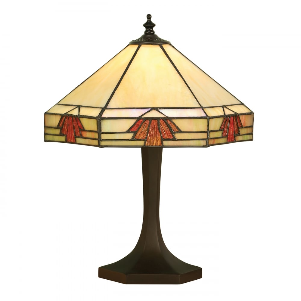 Interiors 1900 nevada small art deco tiffany table lamp