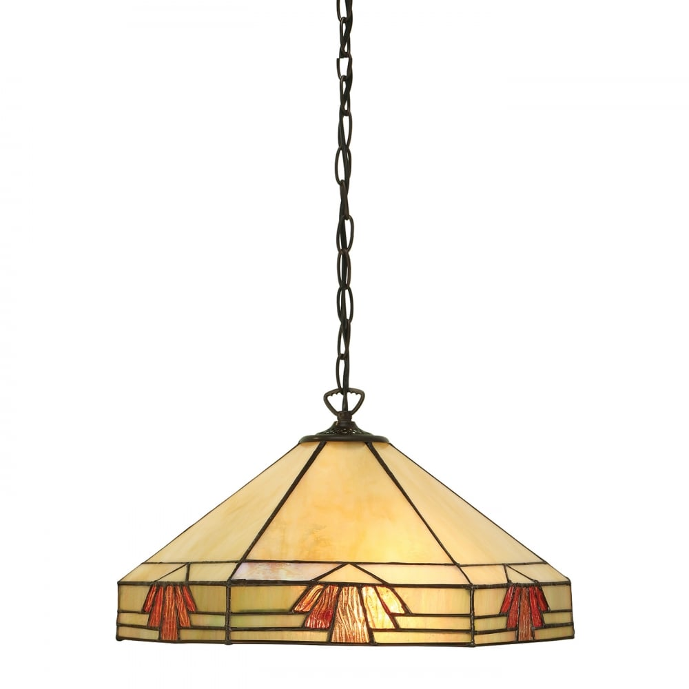Tiffany Art Deco Ceiling Pendant Light from Interios 1900 ...