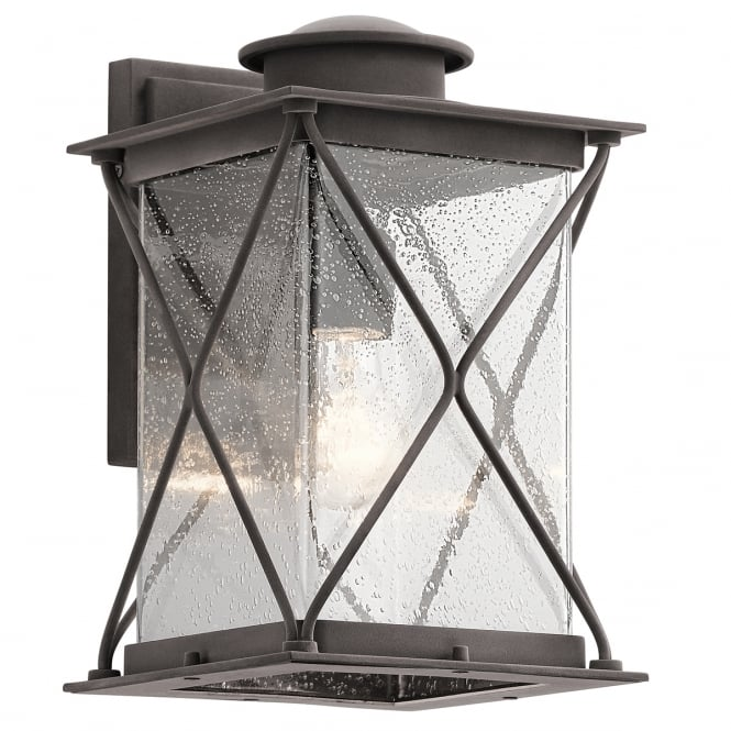 New York Lighting Collection ARGYLE outdoor wall lantern in weathered zinc (medium)