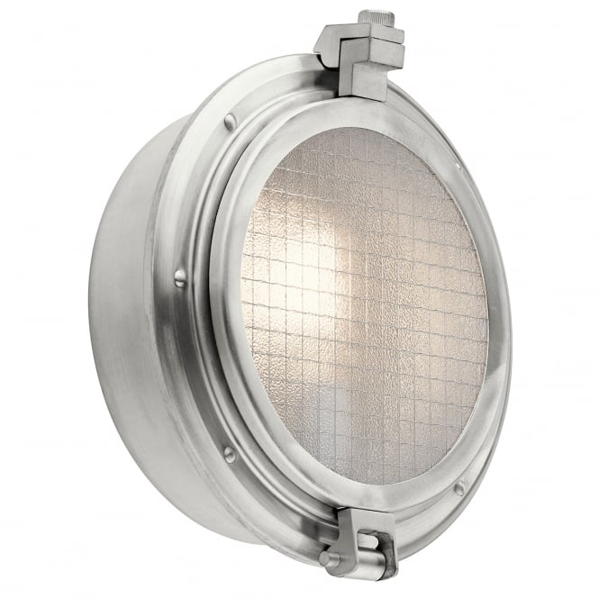 New York Lighting Collection CLEARPOINT classic outdoor wall lantern in aluminium finish with mesh clear glass