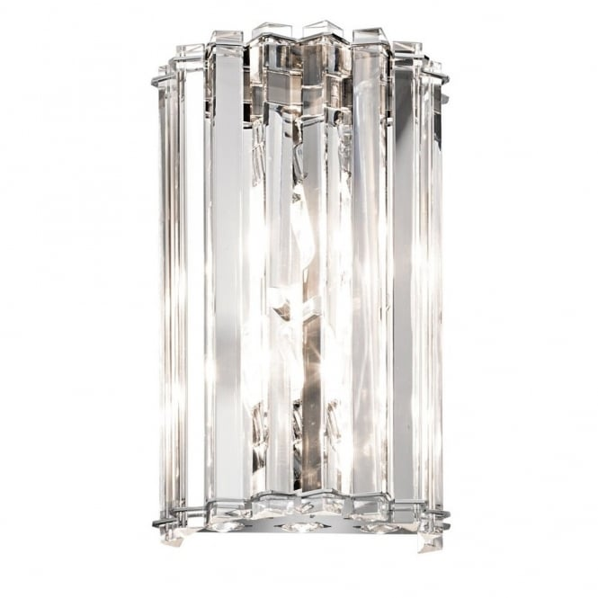 New York Lighting Collection CRYSTAL SKYE decorative modern 2lt wall light with crystal shade