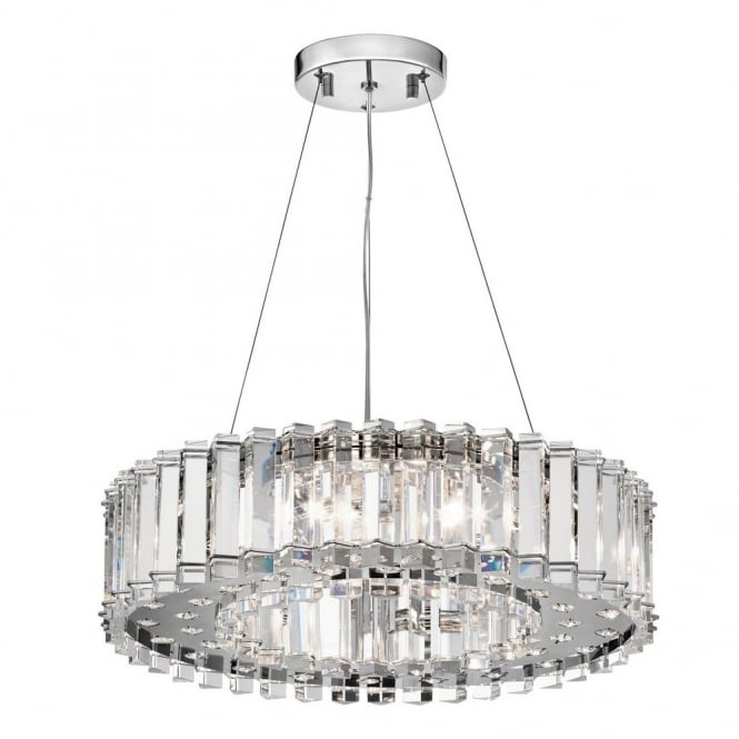 New York Lighting Collection CRYSTAL SKYE decorative modern crystal 8lt ceiling pendant