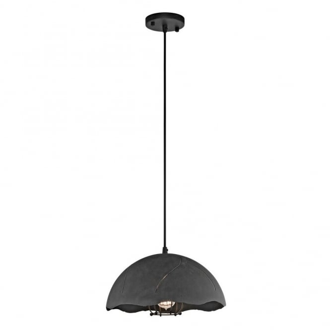 New York Lighting Collection FRACTURE vintage industrial style ceiling pendant in a weathered zinc finish