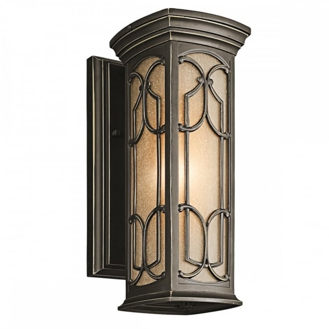 New York Lighting Collection FRANCEASI exteiror Gothic wall lantern in old bronze (small)
