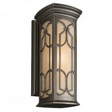 FRANCEASI large exteiror Gothic wall lantern in old bronze