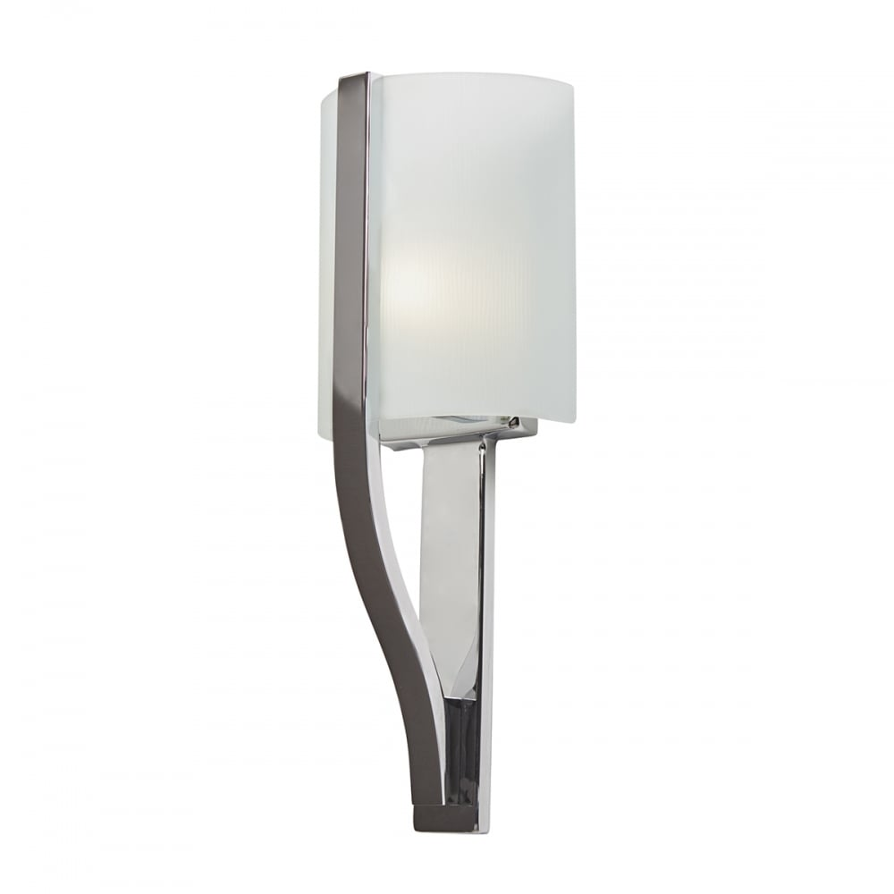 Contemporary polished chrome bathroom wall light with for Modern chrome bathroom vanity lighting