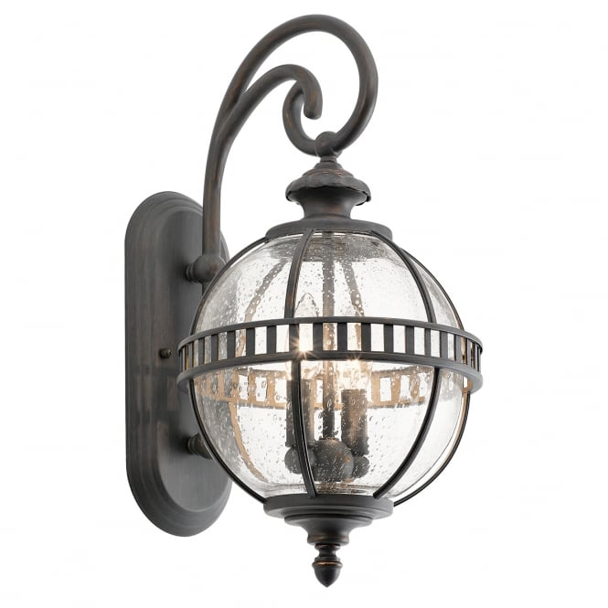 New York Lighting Collection HALLERON 2lt Victorian style exterior wall lantern (small)