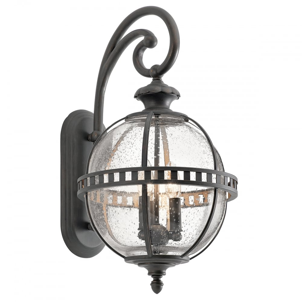 Victorian Globe Style Exterior Wall Lantern In Londonderry Finish