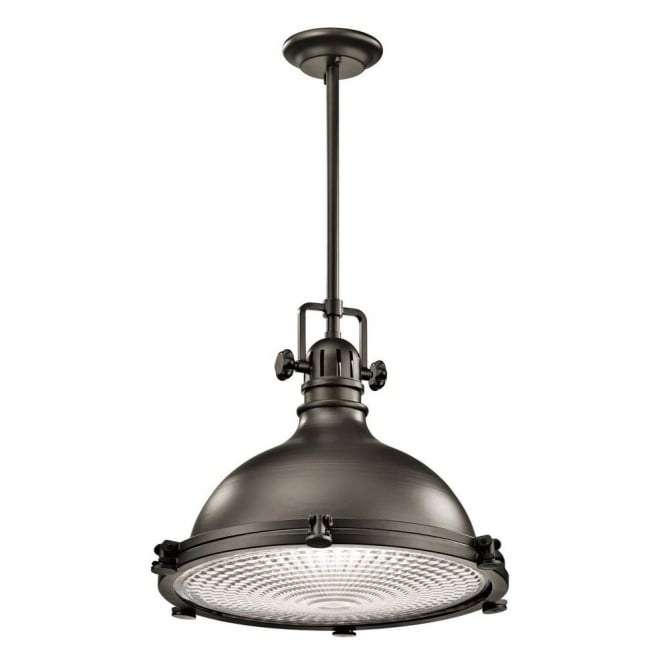 New York Lighting Collection HATTERAS BAY large industrial ceiling pendant for coastal settings in old bronze finish