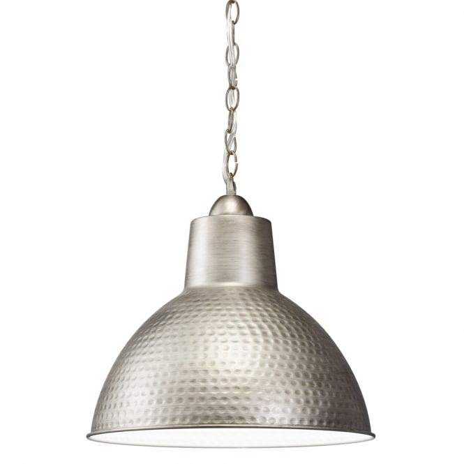 New York Lighting Collection MISSOULA hammered metal ceiling pendant in antique pewter (small)