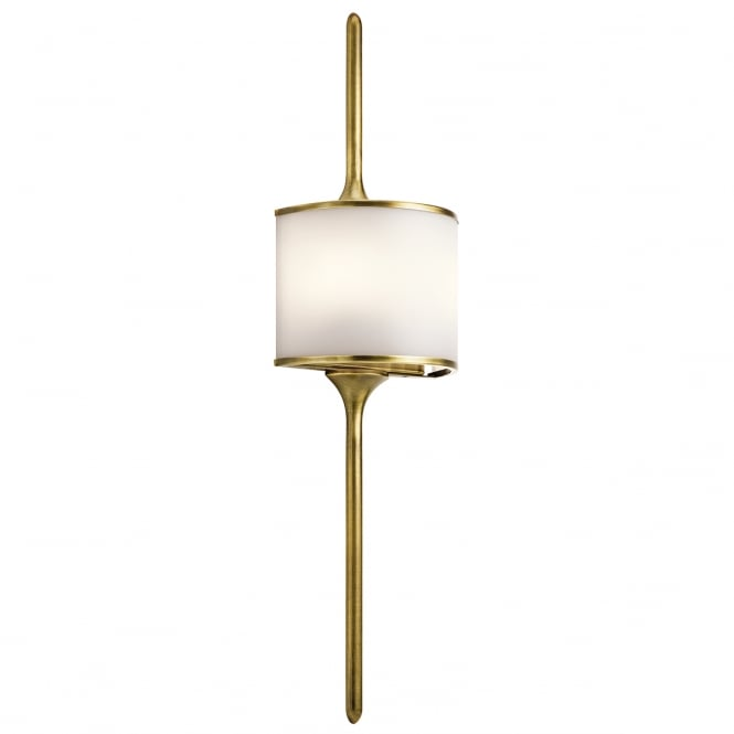 MONA modern bathroom wall light in natural brass (large)