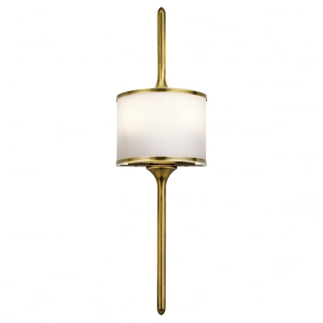 New York Lighting Collection MONA modern bathroom wall light in natural brass (small)