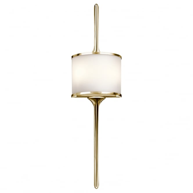 MONA modern bathroom wall light in polished brass (large)