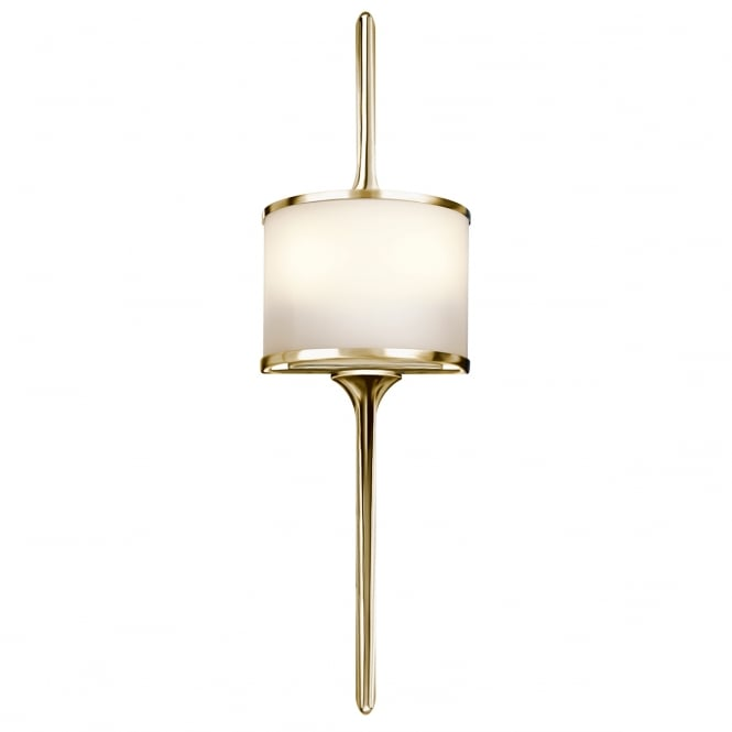 MONA modern bathroom wall light in polished brass (small)