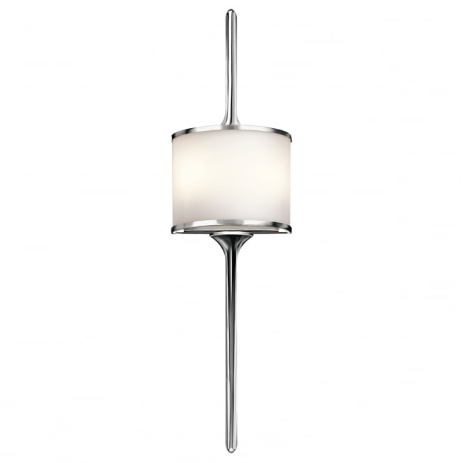MONA modern bathroom wall light in polished chrome (large)