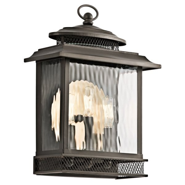 Vintage Outdoor Porch Lantern In Bronze With Reflector