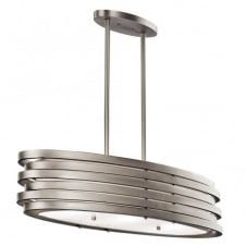 contemporary brushed nickel oval ceiling pendant light