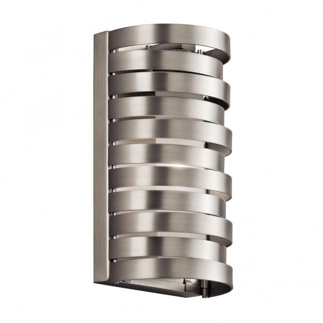 New York Lighting Collection ROSWELL contemporary brushed nickel wall light with stacked offset ring design
