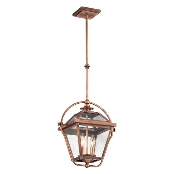 New York Lighting Collection RYEGATE vintage gas lantern inspired ceiling pendant in antique copper