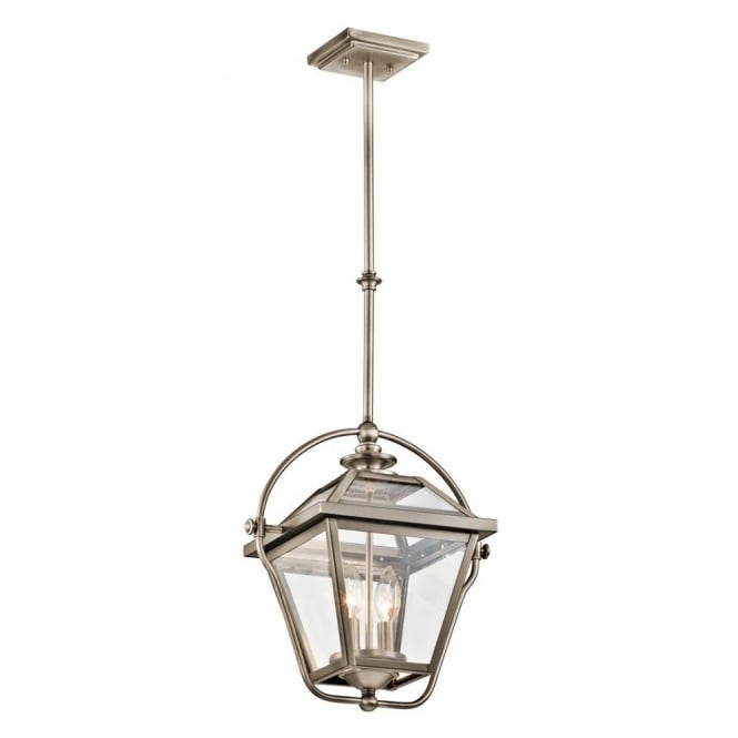 Vintage Style Ceiling Pendant Lantern In Antique Pewter